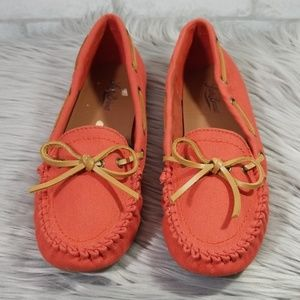 Lucky brand Abelle burnt orange moccasins size 9